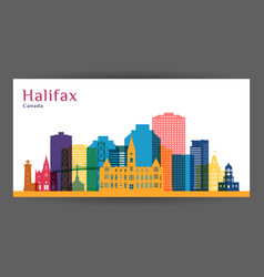 halifax city architecture silhouette vector image