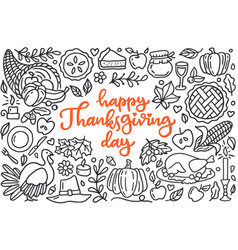 Happy thanksgiving day poster with greetings vector