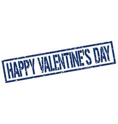 Happy valentines day stamp vector