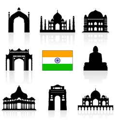 India Travel Icon vector image