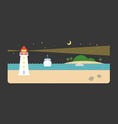 Info graphic and elements of lighthouse vector
