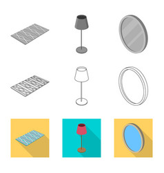 Isolated object of bedroom and room icon vector