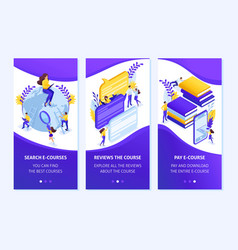 Isometric application concept for education vector