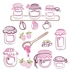 Jam design elements vector