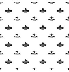 Jewelry gold pattern seamless vector