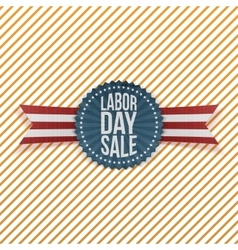 Labor Day Sale textile Emblem vector image
