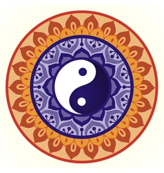 Lotus Yin Yang Design vector