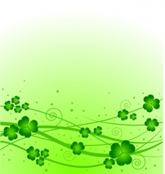 lucky clover background vector image