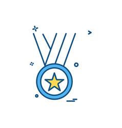 medal winner award icon design vector image