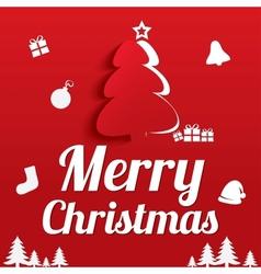 Merry Christmas Greeting Card Christmas tree vector image