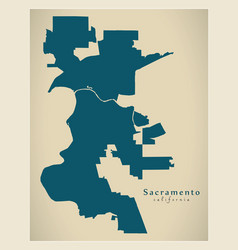 Modern city map - sacramento california city of vector