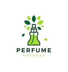 natural perfume tree leaf logo icon vector image