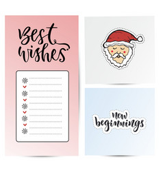 Note paper for best wishes new year sticky notes vector
