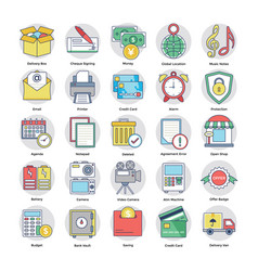 Pack of shopping and commerce icons vector