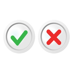 Pass and fail icons set vector