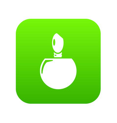 Perfume bottle product icon green vector