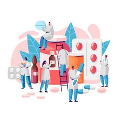 Pharmacy business medicine drug store character vector