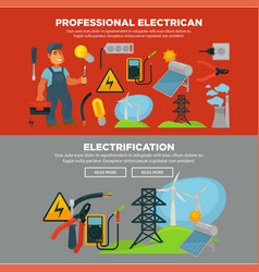 Professional electrician services and vector