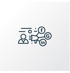 Promotion icon line symbol premium quality vector