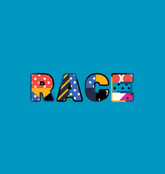 Race concept word art vector