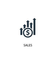 sales icon simple element sales vector image