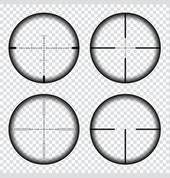 sniper scope crosshairs view sniper rifle aim vector image