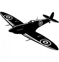 spitfire vector image