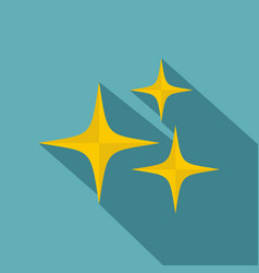 stars icon flat style vector image