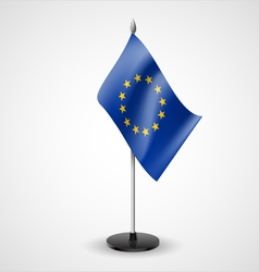 Table flag of European Union vector
