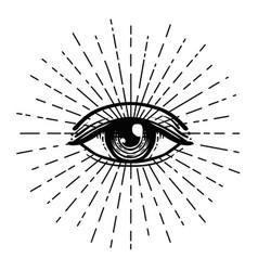tattoo flash eye providence masonic symbol vector image
