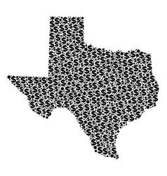 Texas map gdp mosaic of dollar and dots vector