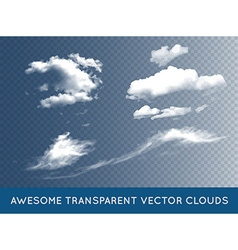 Transparent Clouds Set Collection can be used with vector image
