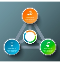 triangle with circles for infographic vector image