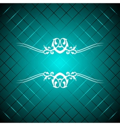 turquoise luxury background vector image