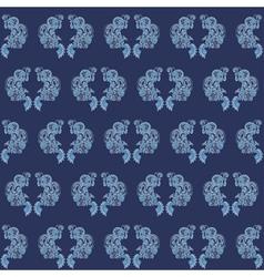 vintage seamless wallpaper blue vector image