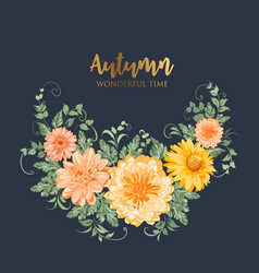 yellow autumn flowers vector image