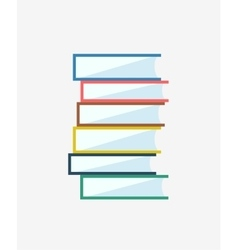 Books stack icon isolated School objects vector image vector image