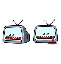 Evil television set vector image