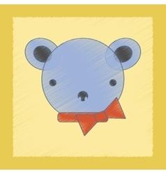 flat shading style icon Kids bear vector image