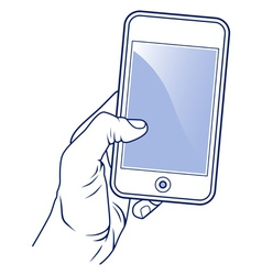 mobile cellular phone vector image vector image