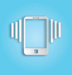 ringing phone icon vector image