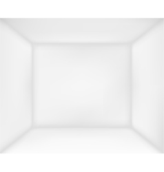 Abstract white room vector image