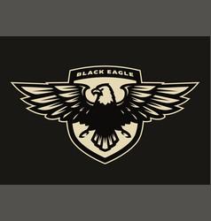 black eagle symbol emblem vector image vector image