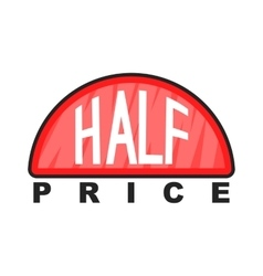 Half price label icon cartoon style vector image vector image