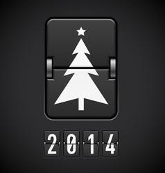 New Year symbols on scoreboard vector image vector image