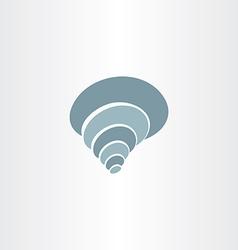 sea shell clip art logo icon vector image