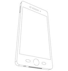 smart phone sketch vector image vector image