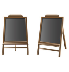 black board isolated set vector image