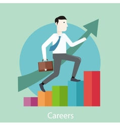 Career concept in flat design style vector image