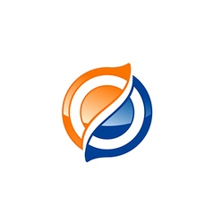 Circle sphere technology 3d logo vector